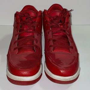 Jordan flight red and black sneakers
